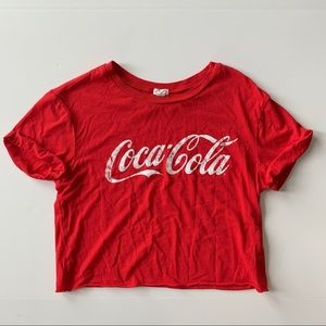 Coca Cola Red Cropped Tee Shirt from Garage
